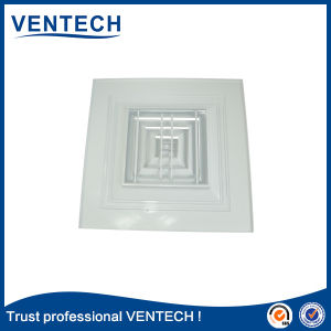 Climatisation en aluminium carré diffuseur de plafond de la Chine fournisseur