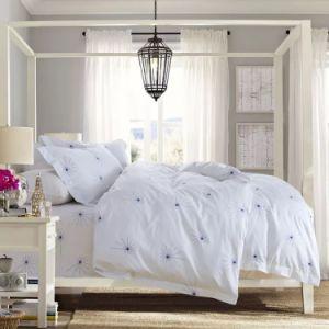 호텔 수집은 인쇄했다 염색한 시리즈 면 위안자 세트 침대 고정되는 장 (JRD115)를