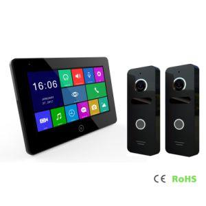 HDのタッチ画面7インチのホームセキュリティーのビデオドアの電話相互通信方式