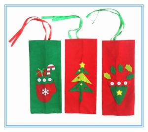 クリスマスツリーの赤ワインのびんカバー袋およびギフト袋
