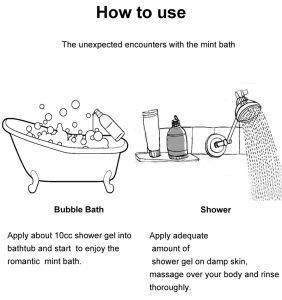 Gel Mint scintillante 300ml dell'acquazzone della lavata del corpo della menta peperita dell'OEM all'ingrosso