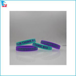 Braccialetto del silicone dell'OEM, braccialetto del silicone riempito inchiostro di alta qualità con il marchio differente