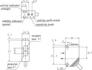 Sensores ópticos Distância Interruptor do Sensor fotoeléctrico