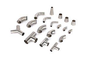 Accesorios de tubería de acero inoxidable sanitario adaptadores tubo/codo o férula con 3A