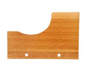 Regulable en altura de la Mesa Permanente de muebles de bambú natural paneles Placas de la mesa de oficina