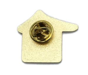 最新の卸し売り昇進(163)のための習慣によって押される住宅のバッジの折りえりPin