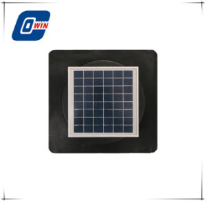 Quadratische Unterseiten-niedriger Watt-Sonnenkollektor-Energien-Dachboden-Ventilator