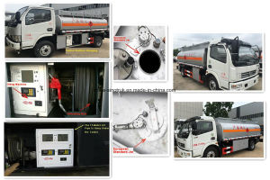 8m3の普及したモデルDongfengの石油タンカーのトラック