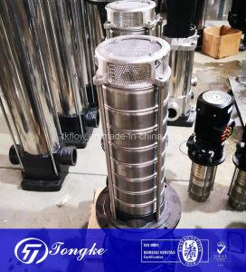 Pompa ad acqua centrifuga a più stadi verticale elettrica di spinta della conduttura dell'acciaio inossidabile