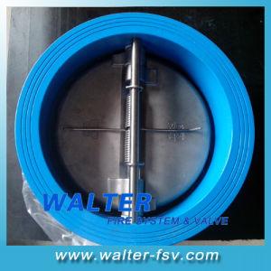 Высокое качество чугунные пружина двухстворчатый клапан 6 дюйма