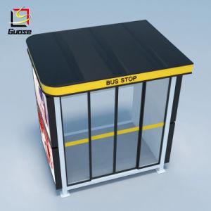 Forma cuadrada y Galvanizada/Bus de Material de vidrio templado de anuncio de la vivienda