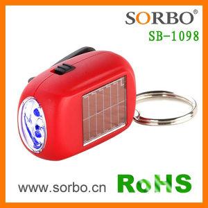 Mini Solar y llavero linterna con dínamo