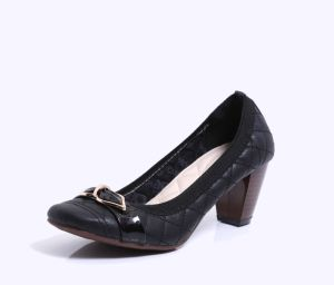 Lady Fashion noir chaussures chaussures de travail formel Middle Office Chaussures à talon