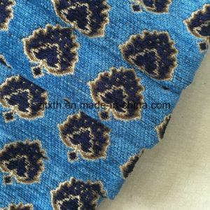 Nuovi Chenille della pianura del fiore 2018 e tessuto blu del sofà della tessile