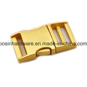 15mm Hebillas de liberación lateral de aluminio plateado.