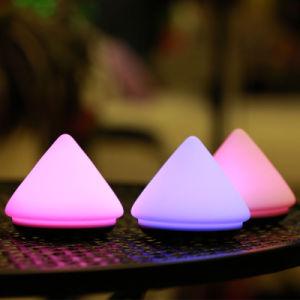 Vulkan-Form-empfindliche Hahn-Steuersilikon-Lampe/Nachtlicht