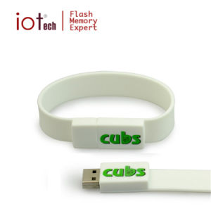 Новая конструкция силиконовой пощечина полоса на запястье браслет флэш-накопитель USB логотип