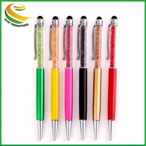 고품질 스테인리스 다채로운 수정 구슬 펜