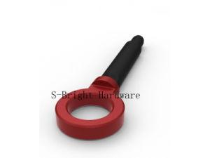 Het aangepaste Rode Geanodiseerde Aluminium Al6061-T6 CNC van de Precisie bewerkte de Voor en Achter Regelbare Haak van het Slepen machinaal (s-095)