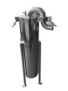 Custodia di filtro in-linea della cartuccia Y del filtro dallo sfiato del gas del vapore dell'aria dell'acciaio inossidabile del setaccio del tubo lenticolare magnetico del doppio tubo