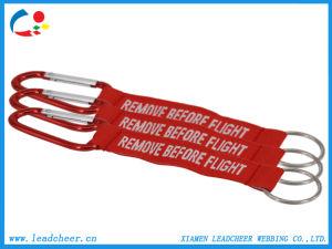 Etiquetas personalizadas Llavero Mosquetón giratorio escalada grabado cordón corto
