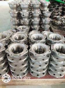 Valvola a sfera flangiata manuale 2PC dell'acciaio inossidabile