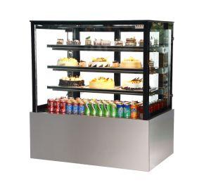 Vetrina di lusso del frigorifero della visualizzazione della torta del quadrato dell'acciaio inossidabile con quattro strati