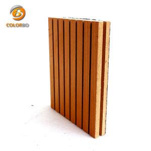Superiore rendere incombustibile e comitato acustico scanalato suono assorbente del legname