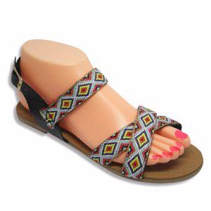 Lady sandale pantoufle Chaussures Femmes à plat