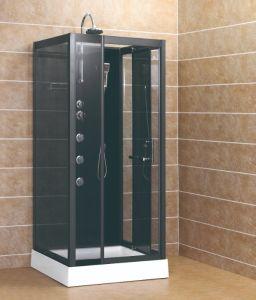 Cabina de ducha caja con la parte superior del brazo de ducha ducha jefe de gabinete