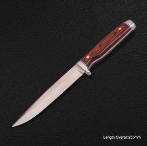 Fixed-Blade cuchillo con mango de madera (#3937)