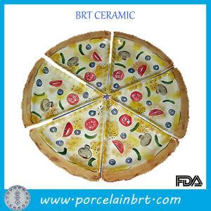 La porcelaine décorative en céramique blanche dîner sains personnalisé plaque dessert divisé