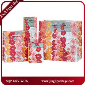 Il regalo dei tageti insacca i sacchi di carta dell'elemento portante di acquisto del regalo del biglietto di S. Valentino
