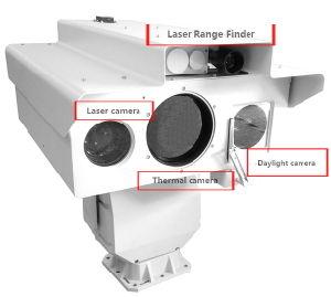Sensor múltiplo IP de Vigilância de Imagem Térmica Câmera com laser de alta definição Noite Câmara de visão e o laser telémetro