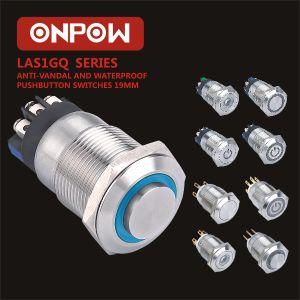 Onpow19мм кнопочный выключатель (Лас1GQ, CE, VDE, RoHS)