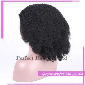 Corte corto estilo Bob rizado el rizo de cabello afro brasileña peluca
