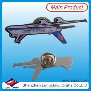 押す3D Airplane Printing Lapel Pin (LZY-10000177)を