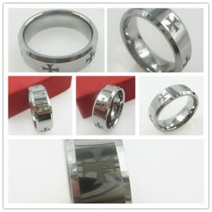 8mm Tungsten Carbide Ring Satin Trouwring Jewelry (RWWS0051)