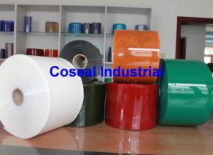 Het gekleurde Gordijn van de Strook van pvc Plastic met de Normen van de EU