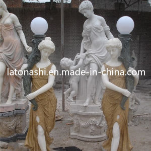 De grote Marmeren Steen sneed het Menselijke Griekse Beeldhouwwerk van de Tuin voor Openlucht