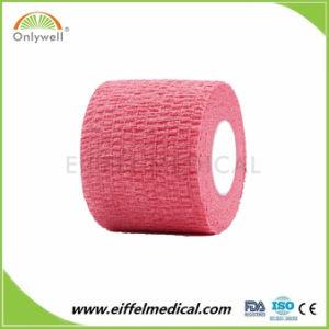 Protecção de segurança CE/FDA à Prova de certificação elástica bandagem auto-adesiva coesa
