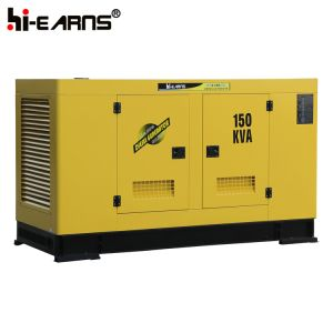 Cummins Engine 150kVA Water-Cooled 침묵하는 디젤 엔진 발전기