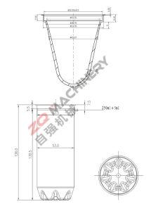 HAUSTIER Vorformling-Form mit heißem Seitentriebs-System (72 Kammern)