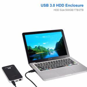 El dispositivo de almacenamiento de disco duro externo portátil USB 3.0 con WiFi