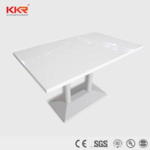 Mobiliario adaptado Corian Superficie sólida mesa mesa de comedor (181012)