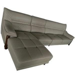新しい到着L形のオフィス用家具の革ソファー(A75)