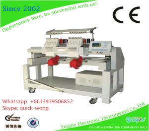 A dupla cabeça/Multi Roupa de mesa computadorizado/PAC máquina de bordado com 9 cores para
