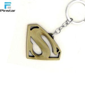 Kunshan Logotipo Super-homem personalizado chaveiro esmalte programável de Metal