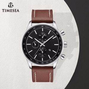 El deporte de moda de hombre de cuero auténtico de la marca de relojes de cuarzo resistente al agua Relojes de pulsera