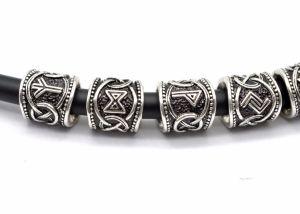 La barba all'ingrosso Vichingo dei capelli 24PCS della fabbrica incanta i risultati antichi dei branelli dell'argento per i monili Pendant del collo dei braccialetti
